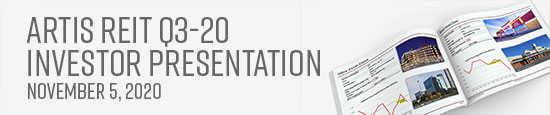 Artis REIT Q3-20 Investor Presentation