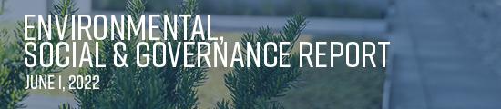 Environmental, Social & Governance Report